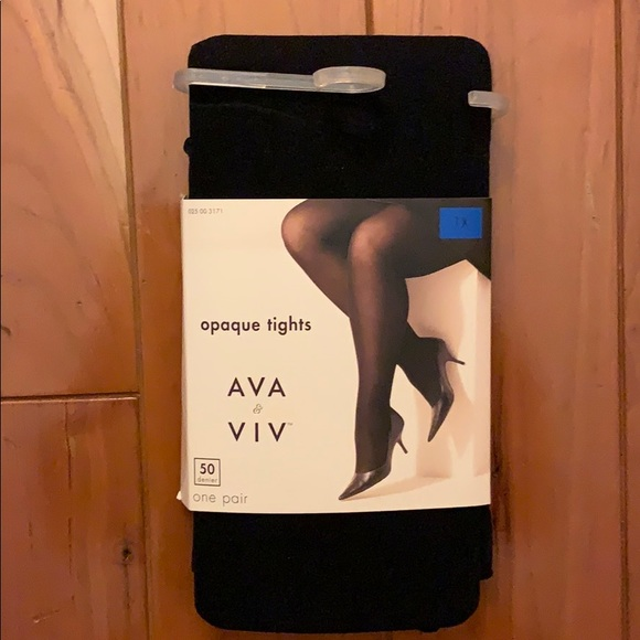 Ava & Viv Accessories - BNWT Ava & Viv Opaque Black Tights